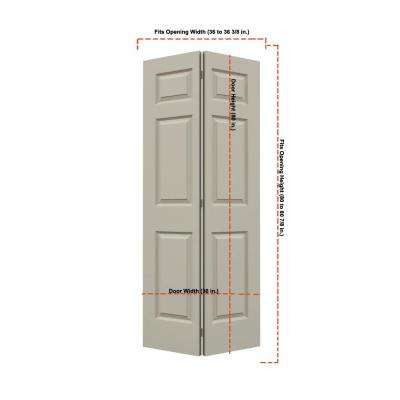 36 in. x 80 in. Colonist Desert Sand Painted Smooth Molded Composite MDF Closet Bi-fold Door