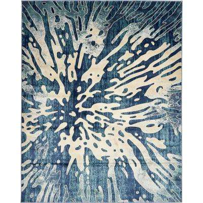 ethereal navy blue 8 ft x 10 ft area rug