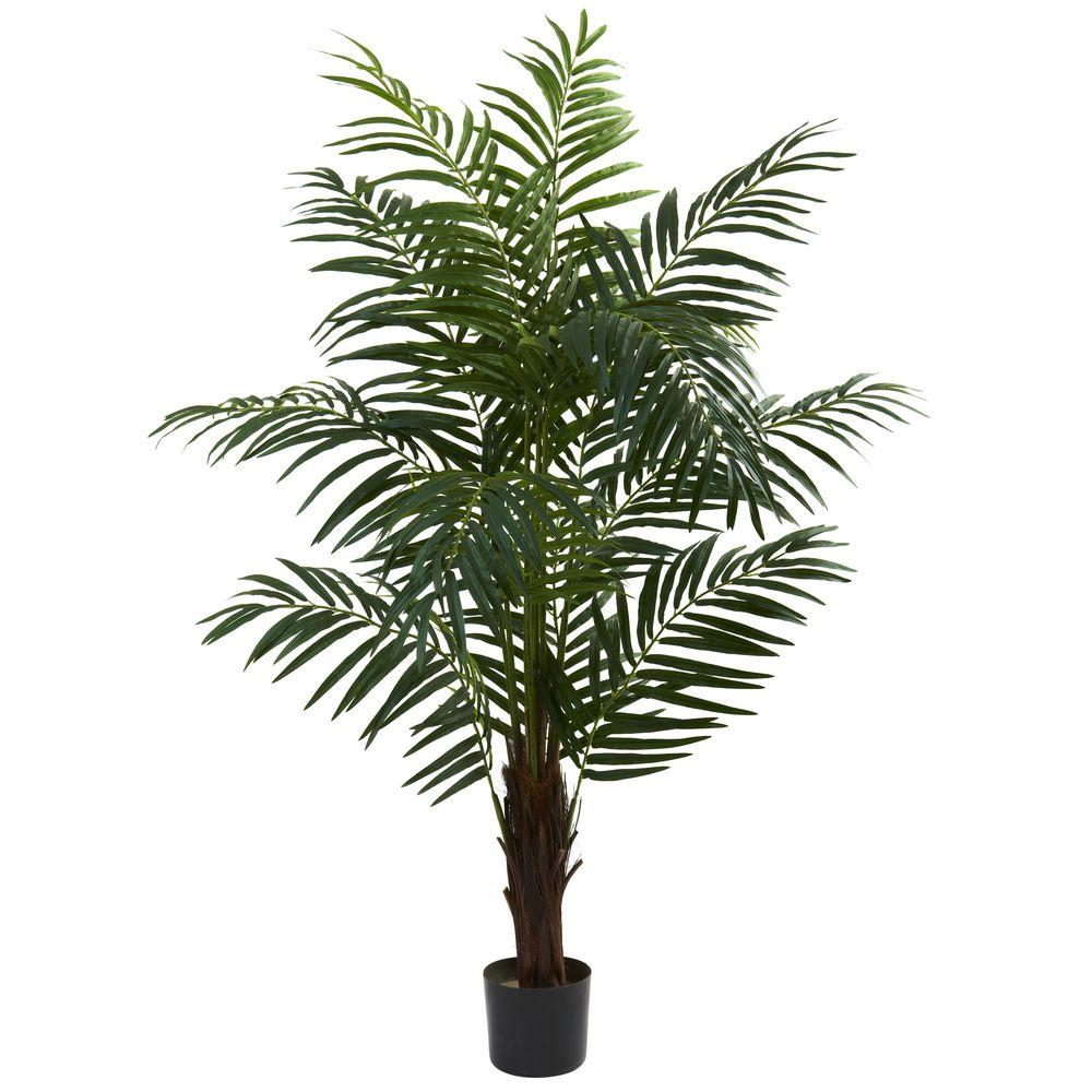 Nearly Natural 5 Ft Areca Palm Tree 5416 The Home Depot