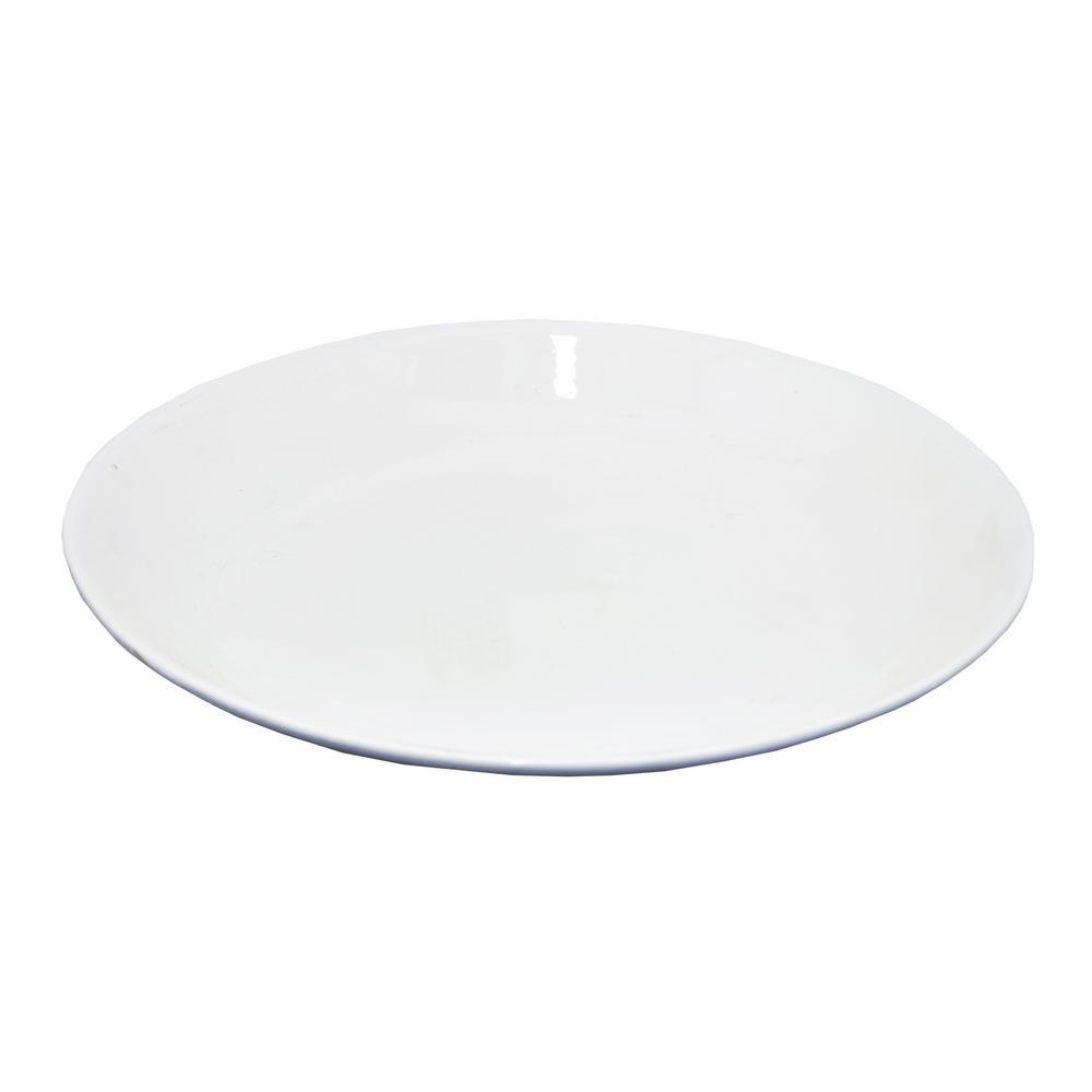THREE HANDS White Ceramic Plate  sc 1 st  Home Depot & THREE HANDS White Ceramic Plate-67094 - The Home Depot