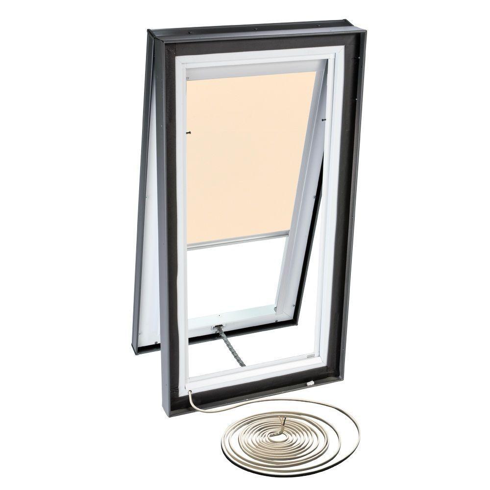 VELUX Beige Electric Light Filtering Skylight Blind for VCE 2222 Models-DISCONTINUED
