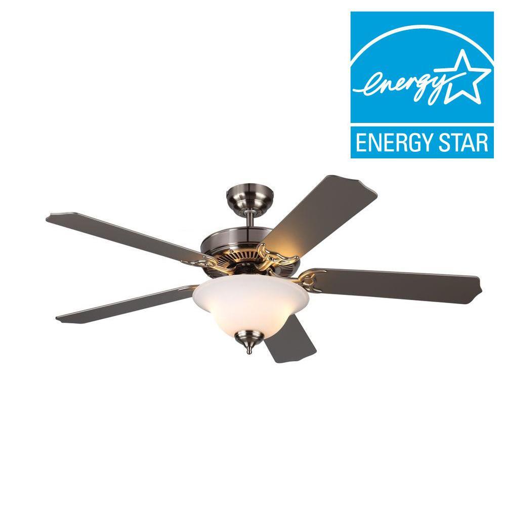 Homeowner II 52 in. Brushed Steel Silver Ceiling Fan