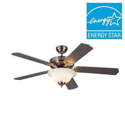 Homeowner II 52 in. Brushed Steel Silver Ceiling Fan
