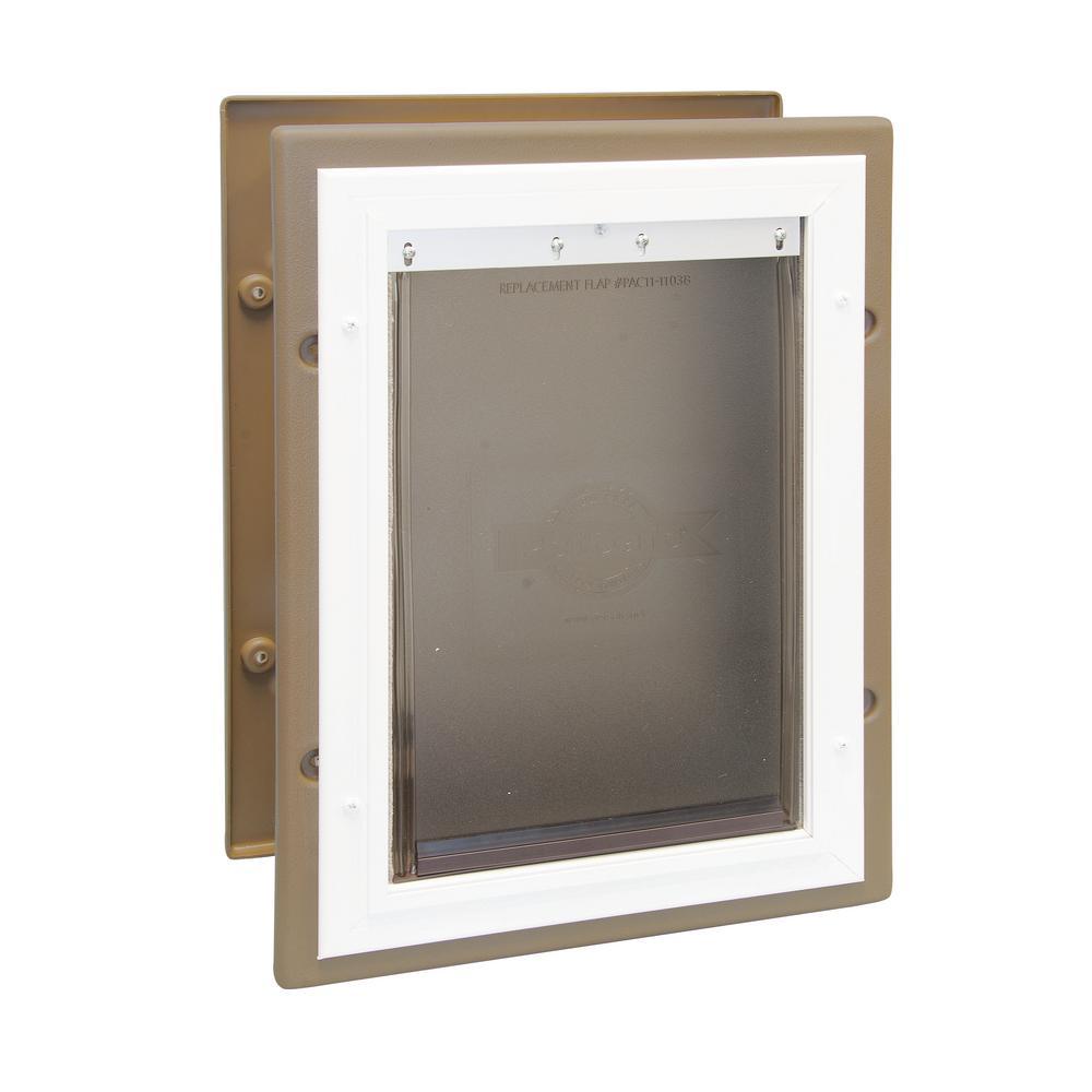 8.25 in. x 11.25 in. Medium Wall Entry Aluminum Pet Door