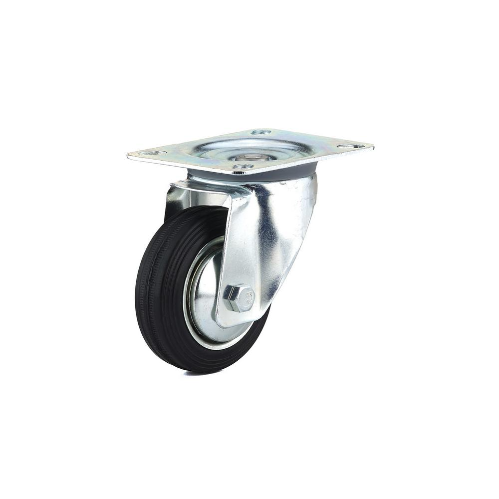 3-5/32 in. black Swivel Without Brake plate Caster, 110.3 lb. Load
