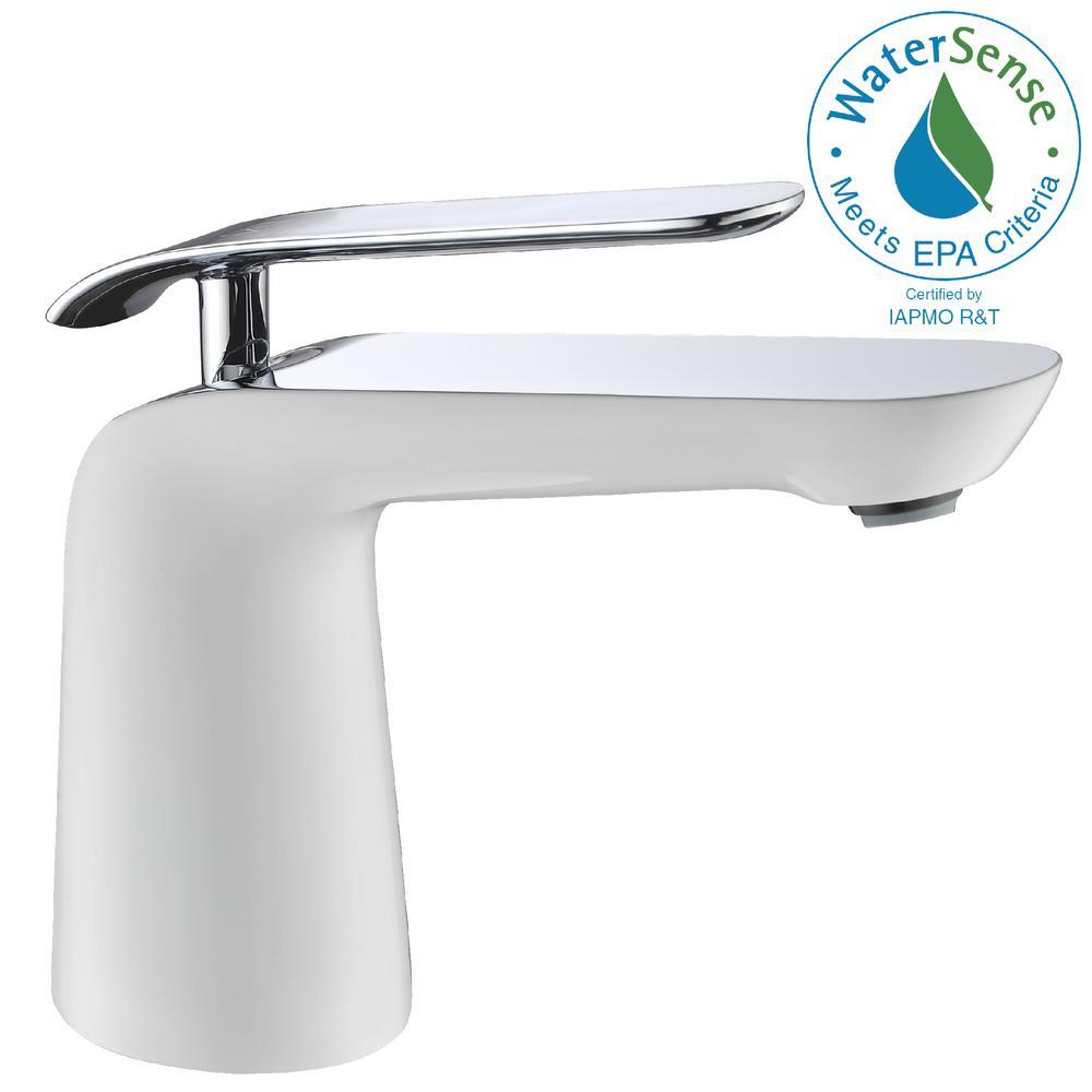 Etude Series Single Hole Single-Handle Low-Arc Bathroom Faucet in Polished Chrome