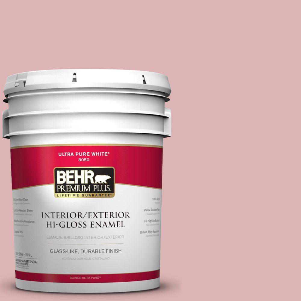 BEHR Premium Plus 5 gal. #S150-2 Tea Room Hi-Gloss Enamel Interior ...