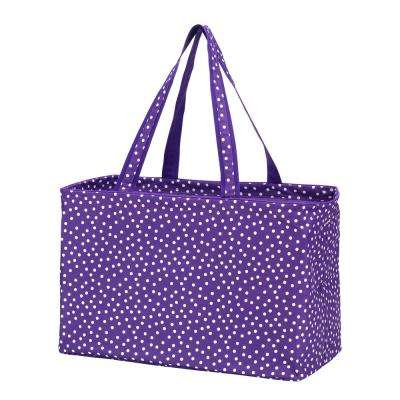 Purple Scattered Dot Polyester Ultimate Tote