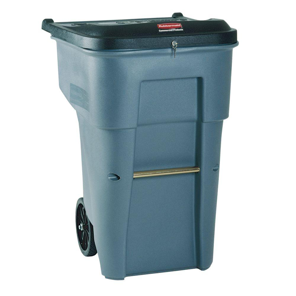 Rubbermaid Commercial Products BRUTE 65 Gal. Grey Confidential ...