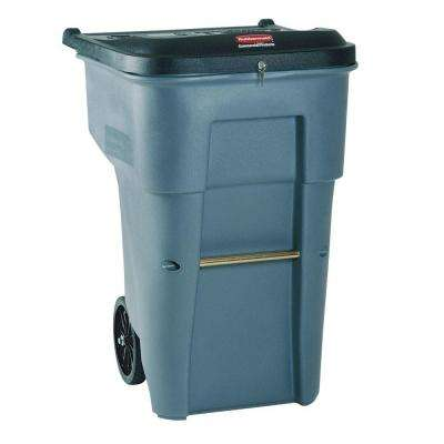 BRUTE 65 Gal. Grey Confidential Document Rollout Trash Can