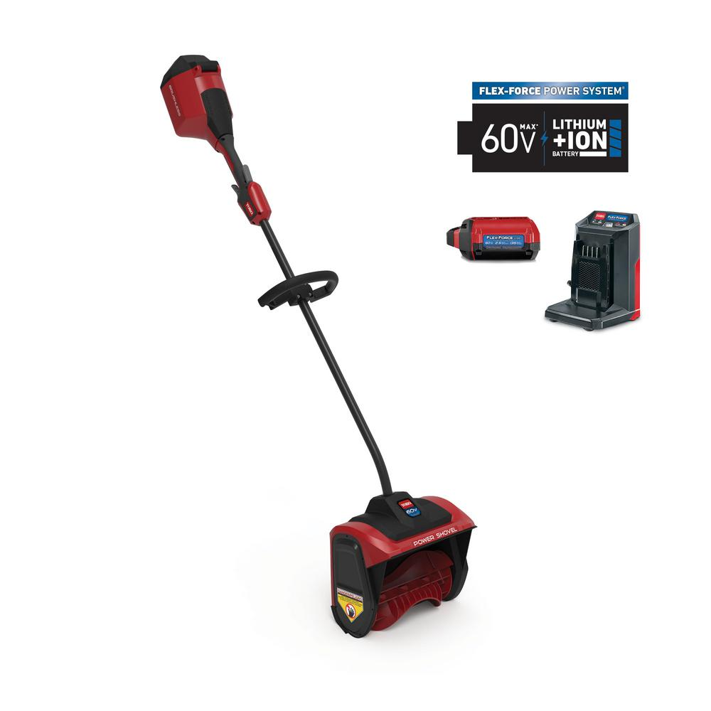 Toro 12 in. 60-Volt Battery Cordless Electric Snow Shovel with 2.5 Ah Battery Plus Charger