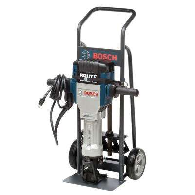 Brute Turbo 15 Amp 1-1/8 in. Corded Variable Speed Electric Hex Premium Breaker Hammer Kit with Deluxe Cart & 4 Chisels
