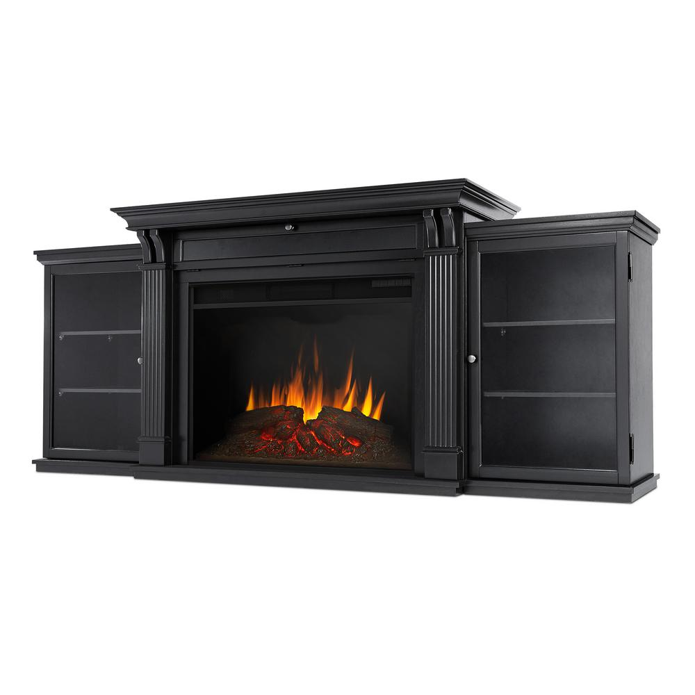 Tracey Grand 84 in. Electric Fireplace TV Stand Entertainment Center in