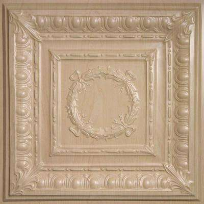 Empire Faux Wood-Sandal 2 ft. x 2 ft. Lay-in or Glue-up Ceiling Panel (Case of 6)