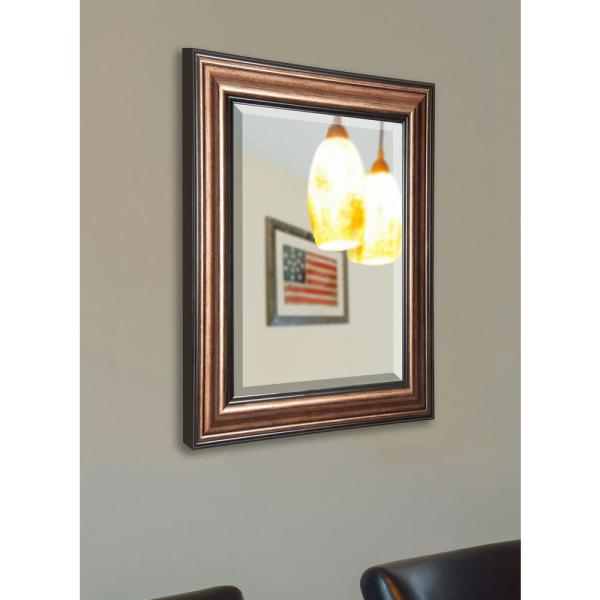 35.5 in. x 35.5 in. Canyon Bronze Rounded Beveled Wall Mirror