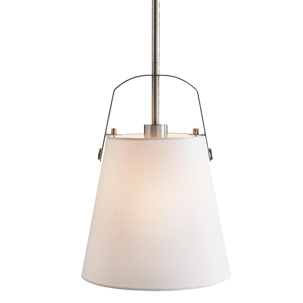 Home Decorators Collection Survey 1-Light Brushed Nickel Mini Pendant