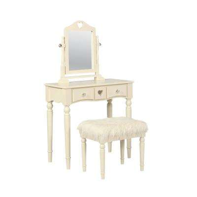 Sadie 2-Piece White Youth Vanity Set