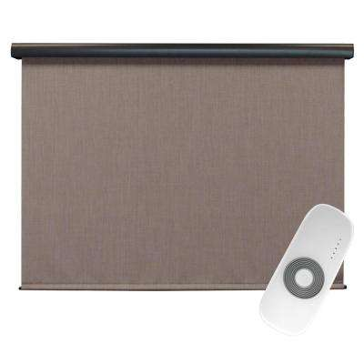 Sea Cliff Elite PVC Fabric Outdoor Roller Shade Rechargeable DC Motor Operated - 96 in. W x 96 in. L