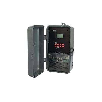 20 Amp 120-Volt to 277-Volt Astronomic Indoor/Outdoor 7-Day Digital Timer with Holiday 2-Channel, Grey