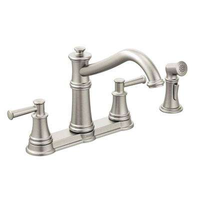 Belfield 2-Handle Standard Kitchen Faucet with Side Spray in Spot Resist Stainless