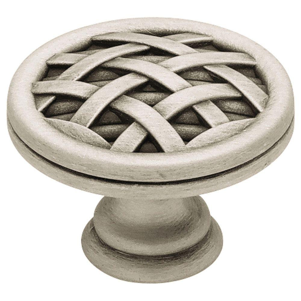 Liberty French Romantics 1-1/2 in. Brushed Satin Pewter Ribbon & Reed Cabinet Knob