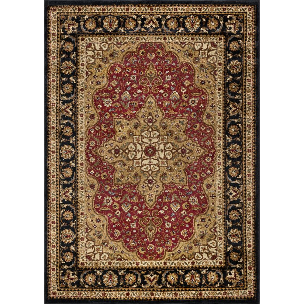 Tayse Rugs Elegance Red 5 Ft X 7 Ft Traditional Area Rug