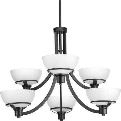 black chandelier lighting large black domain collection 6light black chandelier chandeliers lighting the home depot
