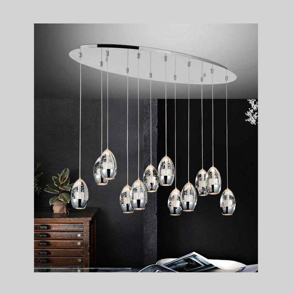 Cwi Lighting Perrier 12 Light Chrome Chandelier 5077p34c O The