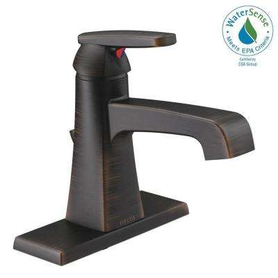 Ashlyn Single Hole Single-Handle Bathroom Faucet with Metal Drain Assembly in Venetian Bronze