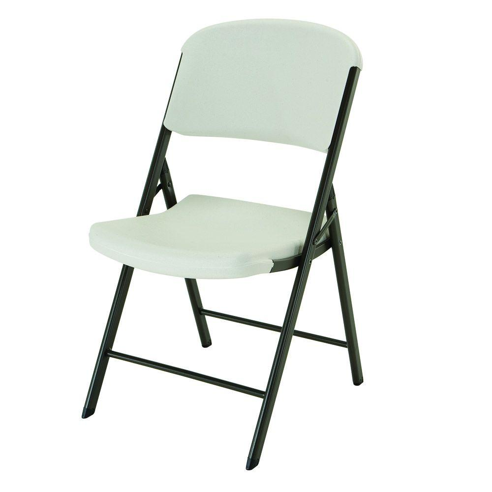 4 Pack Folding Chairs.Lifetime Almond Plastic Seat Outdoor Safe Plastic Folding Chair Set Of 4