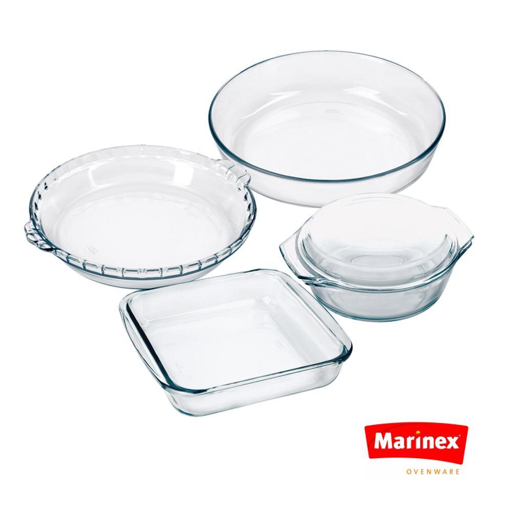 Celebrity 5-Piece Assorted Glass  Bakeware Set