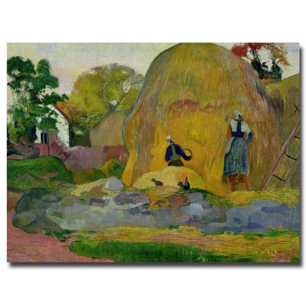 Trademark Fine Art 24 in. x 32 in. Golden Harvest 1889 Canvas Art