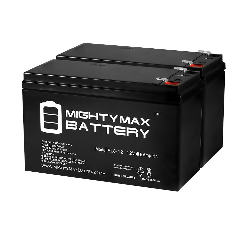Mighty Max Battery 12 Volt 8 Ah Sla (sealed Lead Acid) Agm Type Replacement Battery For Alarm/security Systems (2 Pack)