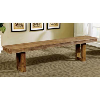 Lidgerwood Natural Tone Industrial Style Bench