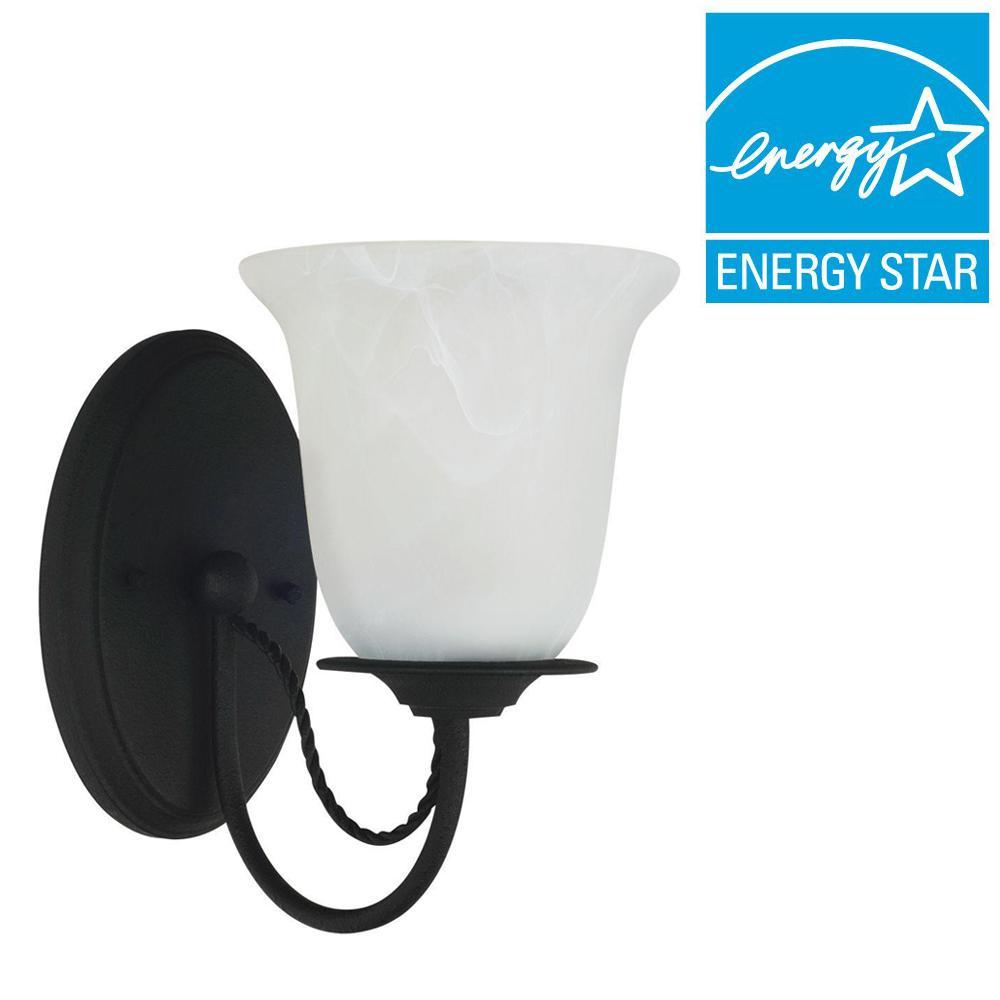 Sea Gull Lighting Plymouth 1-Light Blacksmith Sconce