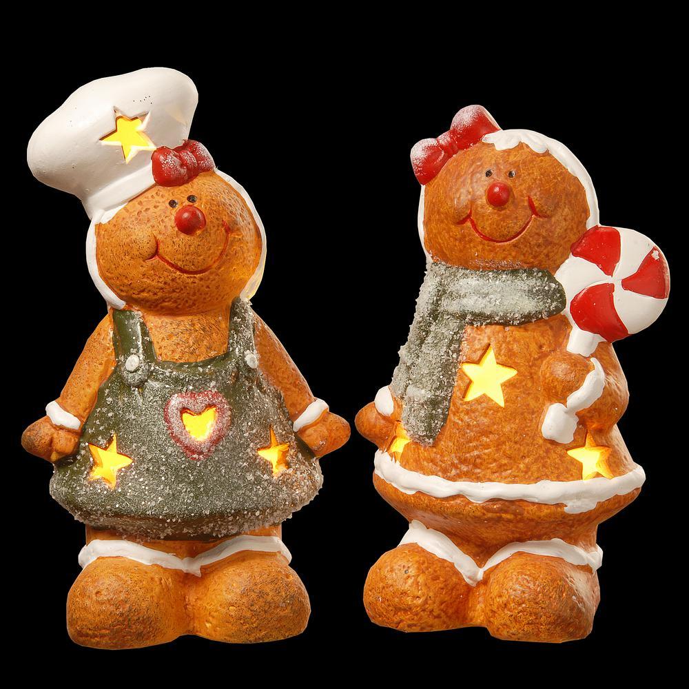 7 in. Terra Cotta Gingerbread Set