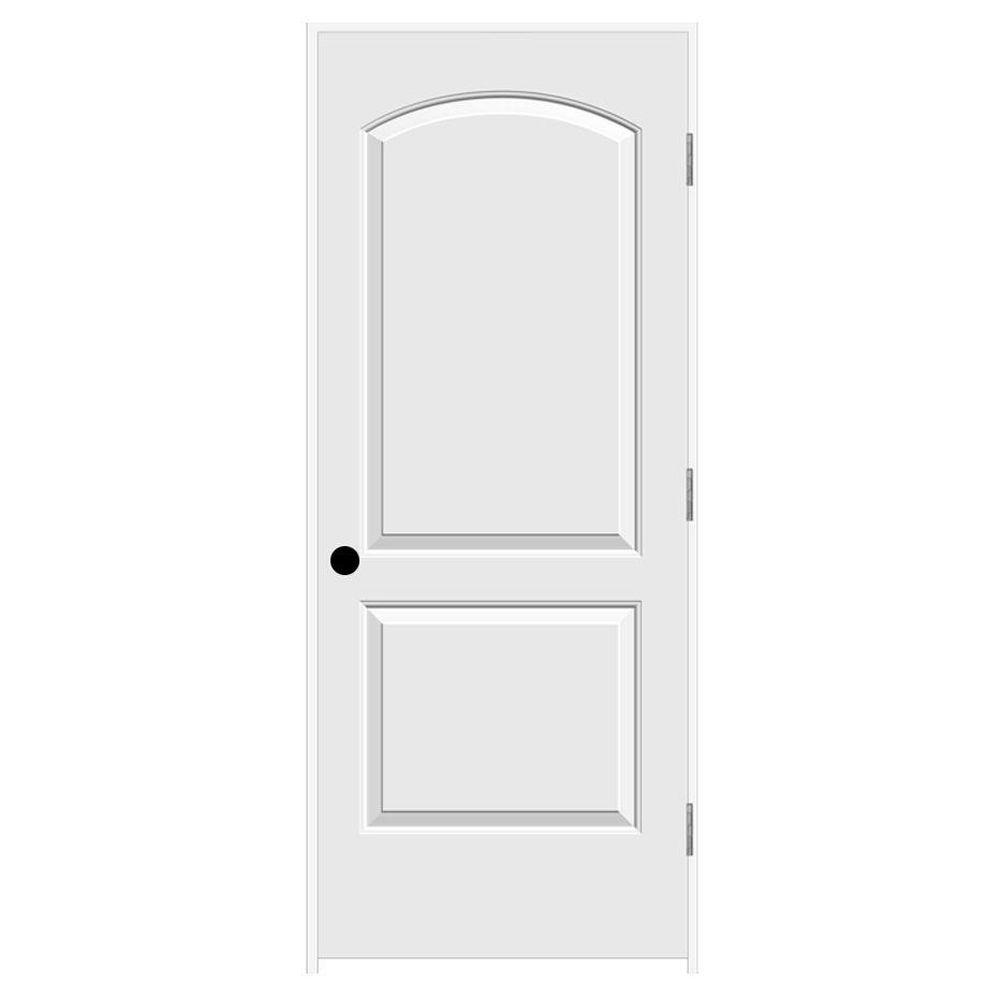 Jeld Wen 32 In X 80 In Continental Primed Left Hand Smooth Solid Core Molded Composite Mdf