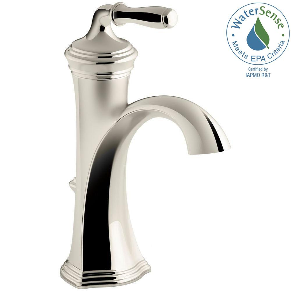 Devonshire Single Hole 1 Handle Water Saving Bathroom Faucet In Vibrant Polished  Nickel