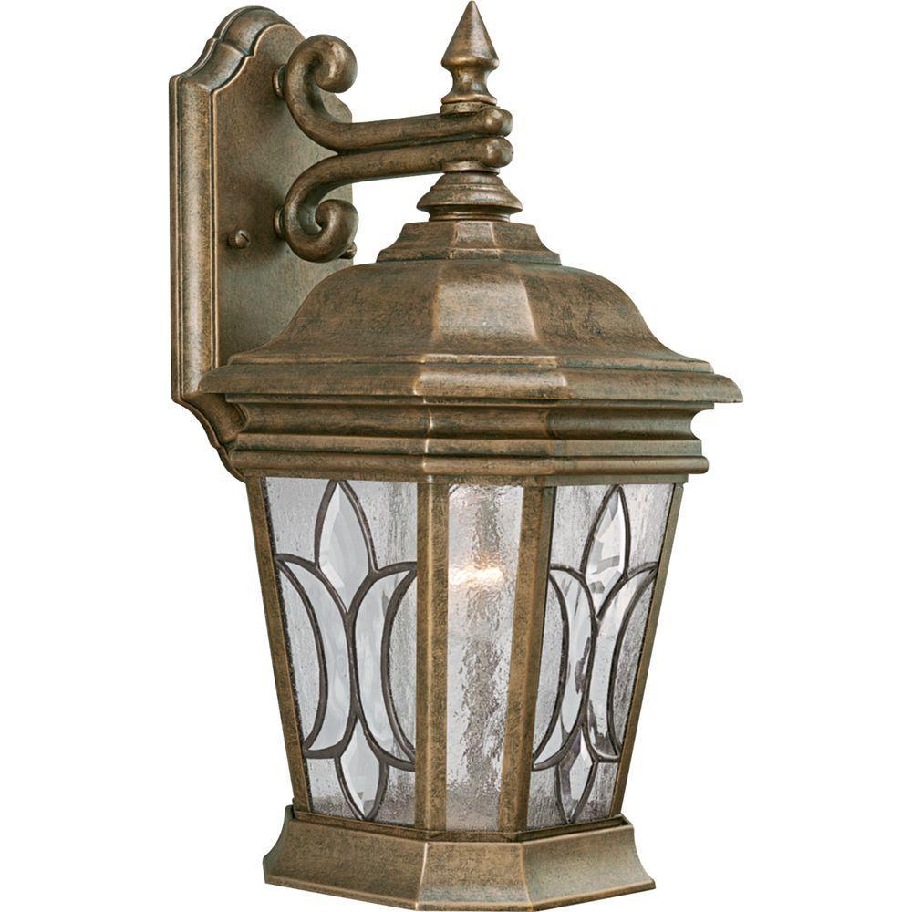 Progress Lighting Cranbrook Collection 1-light Burnished Chestnut Wall Lantern