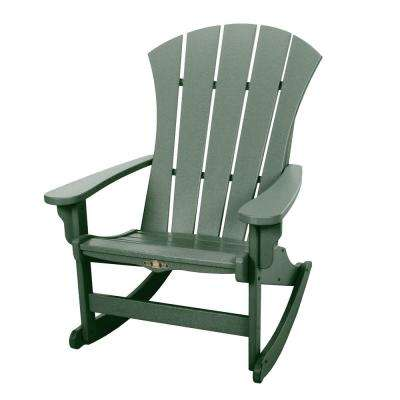DuraWood Sunrise Adirondack Patio Rocker In Pawleyu0027s Green
