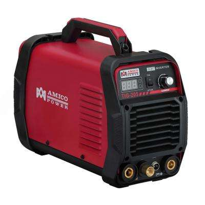 Amico 200 Amp High Frequency TIG Torch/Stick/ARC DC Inverter Welder 115/230-Volt Dual Voltage Welding