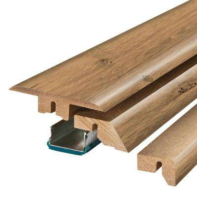 Harvest Cherry / Riverbend Oak 3/4 in. Thick x 2-1/8 in. Wide x 78-3/4 in. Length Laminate 4-in-1 Molding