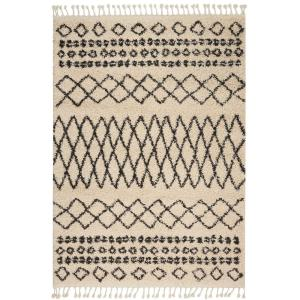 Nourison Moroccan Shag Cream 2 ft. 2 inch x 4 ft. Accent Rug by Nourison