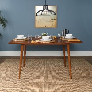 60 in. Mid Century Wood Dining Table - Acorn