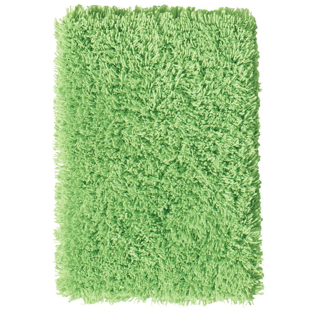 Home Decorators Collection Ultimate Shag Lime Green 1 ft. 8 in. x 2 ft. 8 in. Area Rug