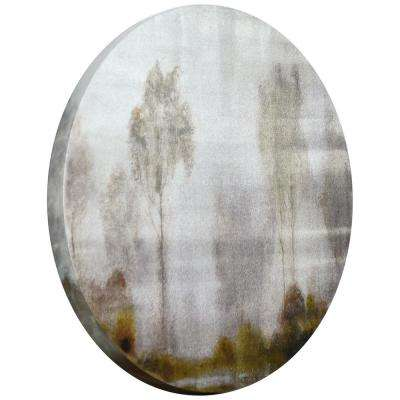 """Subtle Reflection"" Circular silver canvas Giclee printed on 2 in.  Wood Stretcher Wall Art"