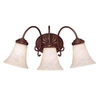 Indica 3-Light Walnut Patina Bath Vanity Light