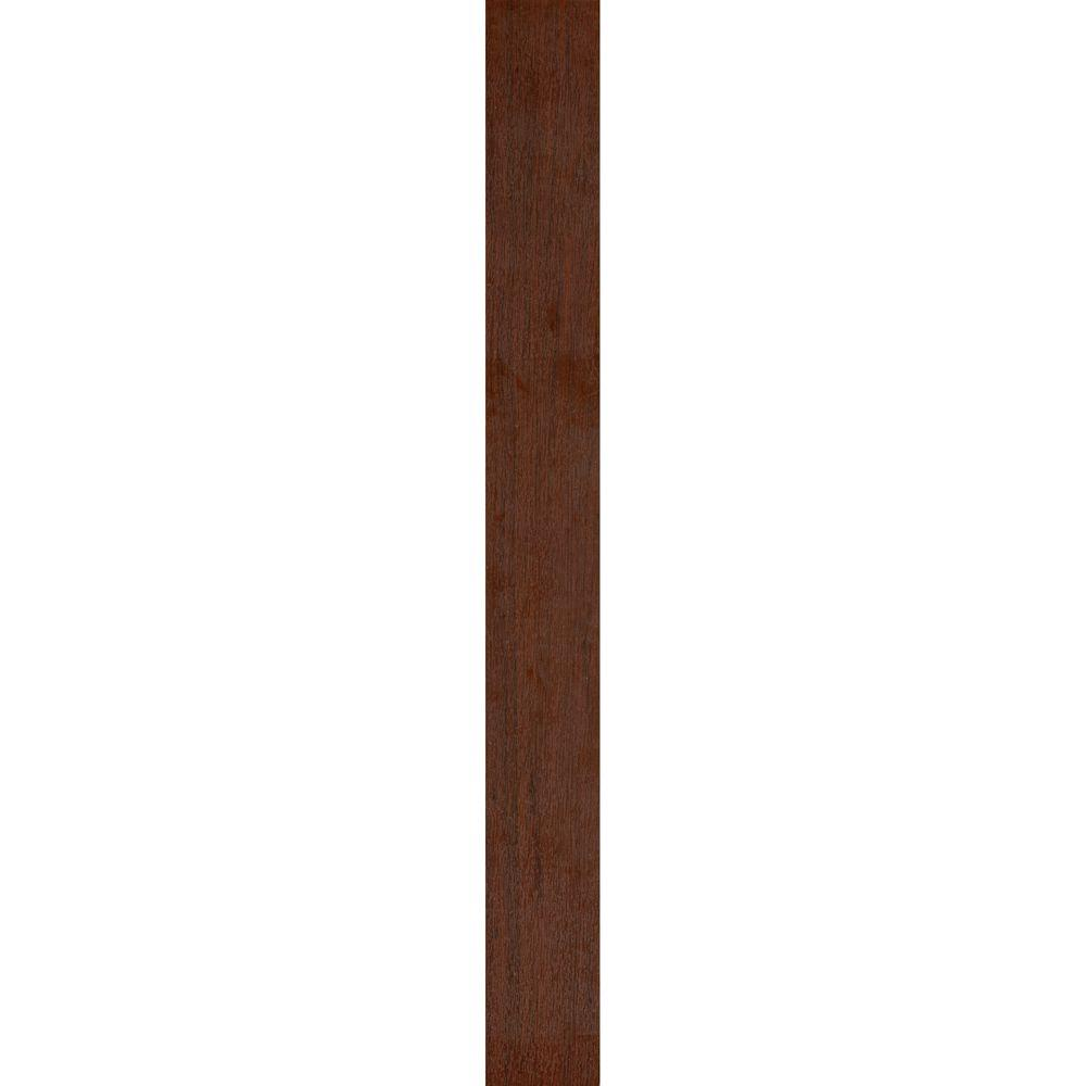 TopTile 48 in. x 5 in. Deep Rosewood Woodgrain Ceiling and Wall Plank (16.5 sq. ft. / case)