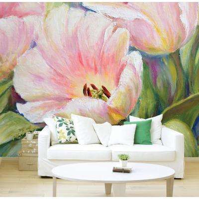 118 in. x 98 in. Tulips Wall Mural