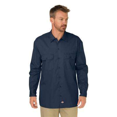 Men's Large Charcoal Long Sleeve Work Shirt
